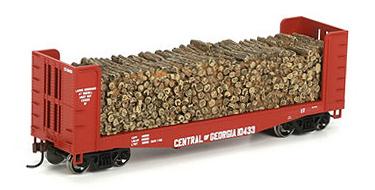 40` Pulpwood Flatcar H0
