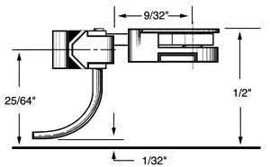 medium 9/32 overset shank