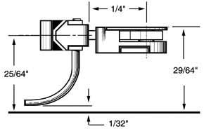 short 1/4 centerset shank