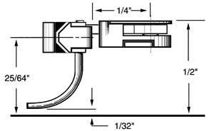 long 25/64 overset shank