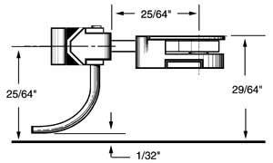 long 25/64 centerset shank