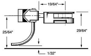 medium 9/32 centerset shank