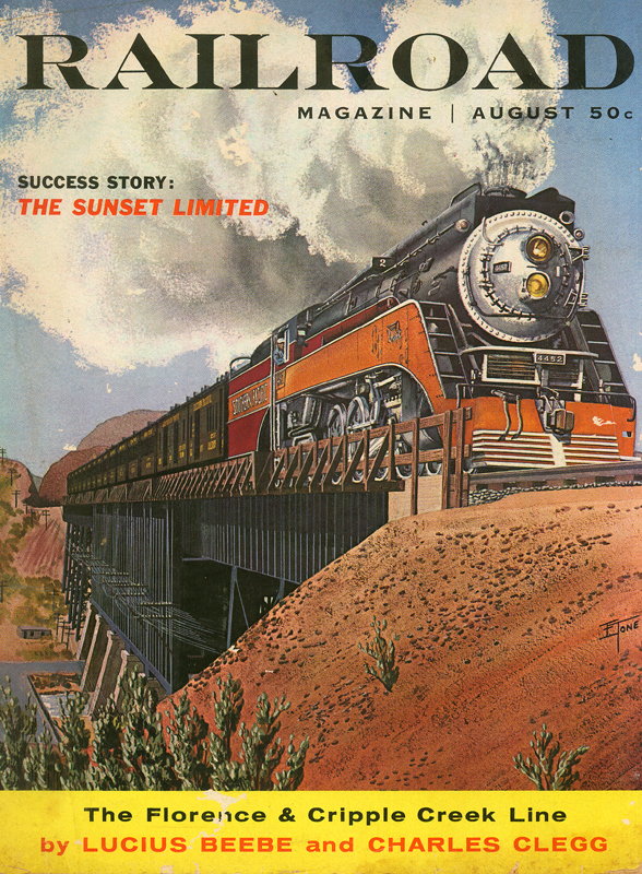 Railroad Magazine August 1958