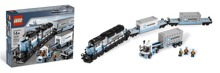 Maersk-Set, GP40-2, 2x Tragwagen, Yard Tractor