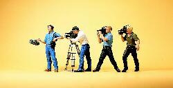 Fernsehteam mit Kameras