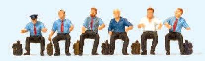 Lokführer sitzend, für E-Lok