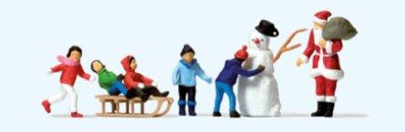 Weihnachtsmann Kinder Schneemann