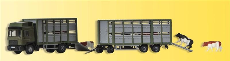 Viehtransporter mit Anhänger