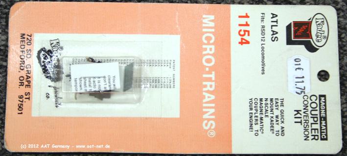 Micro Trains Line 001 30 004 N Scale GP40 Atlas Coupler Conversion Kit