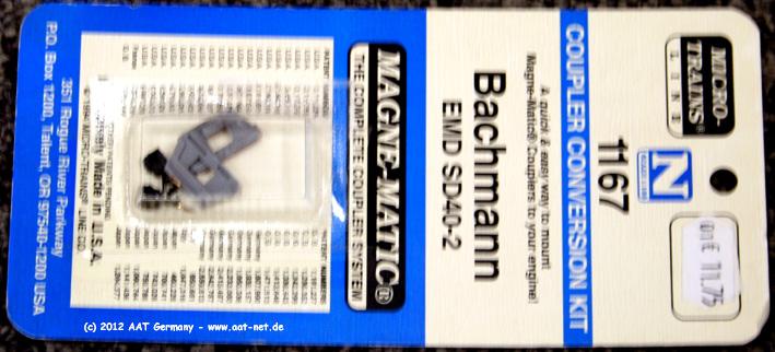 Bachmann EMD SD40-2 Coupler Conversion Kit