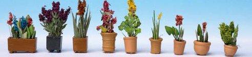 9 Blumentöpfe