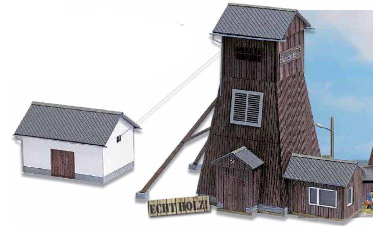 Förderturm Schlema mit Maschinenhaus