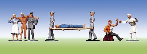 Rotkreuzhelfer, Verletzte