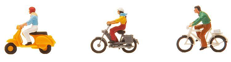 Fahrrad- und Mopedfahrer