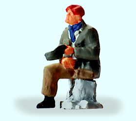 Versehrter sitzend