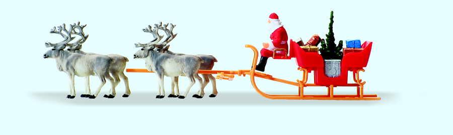Weihnachtsschlitten mit Rentieren