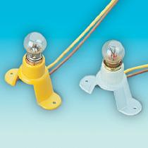 weiß, Glühbirne 14-19V/50mA, mit Kabel, Gleichstrom