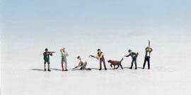 Jäger und Holzfäller (7 Figuren)