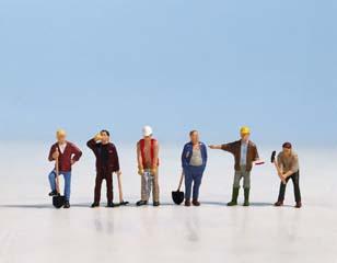 Bauarbeiter (6 Figuren)