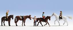 Reiter (4 Figuren + 4 Pferde)