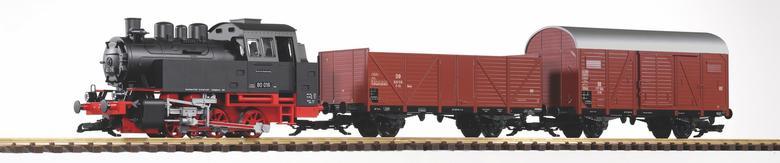 DB, BR 80 und 2 Wagons