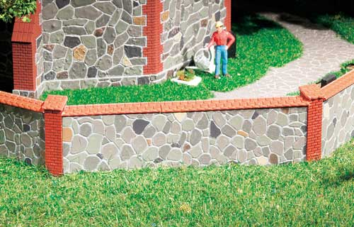 Natursteinmauer 8x 120mm, 10 Säulen