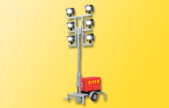 LED-Leuchtgiraffe auf Anhänger