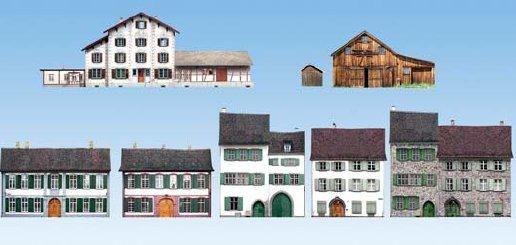 Halbreliefgebäude Alpenländer