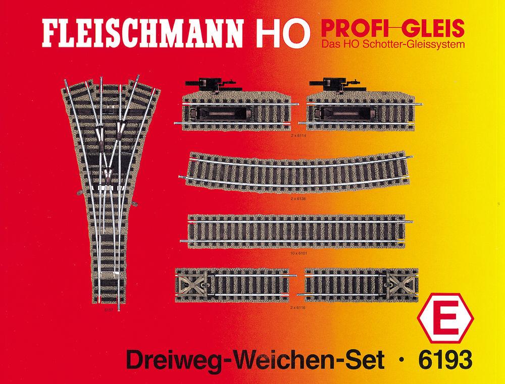 Dreiweg-Weichen-Set, Set E