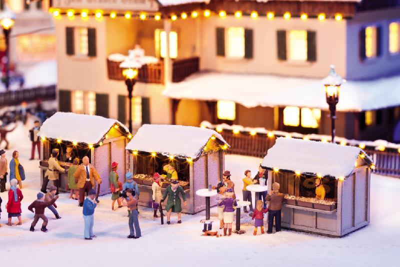 Weihnachtsmarkt-Buden Set (3-tlg.)