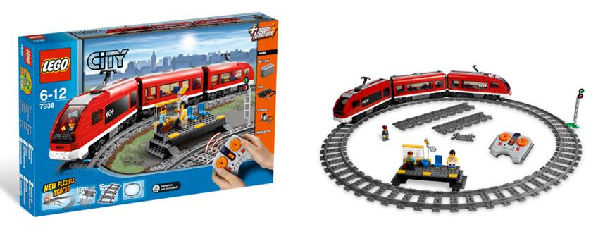 3-teiliger Triebzug mit Antrieb, IR-Fernsteuerung, Bahnsteig