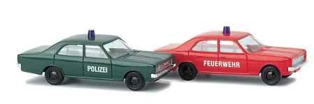 Opel Rekord Polizei und Feuerwehr