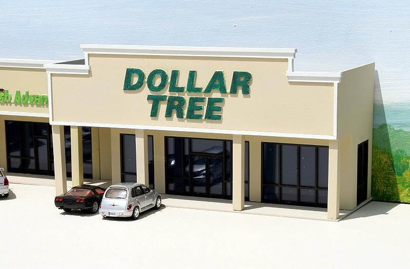 Dollar Tree Backdrop Building