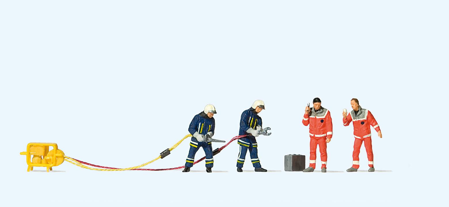 Moderne Feuerwehrmänner, Bergung