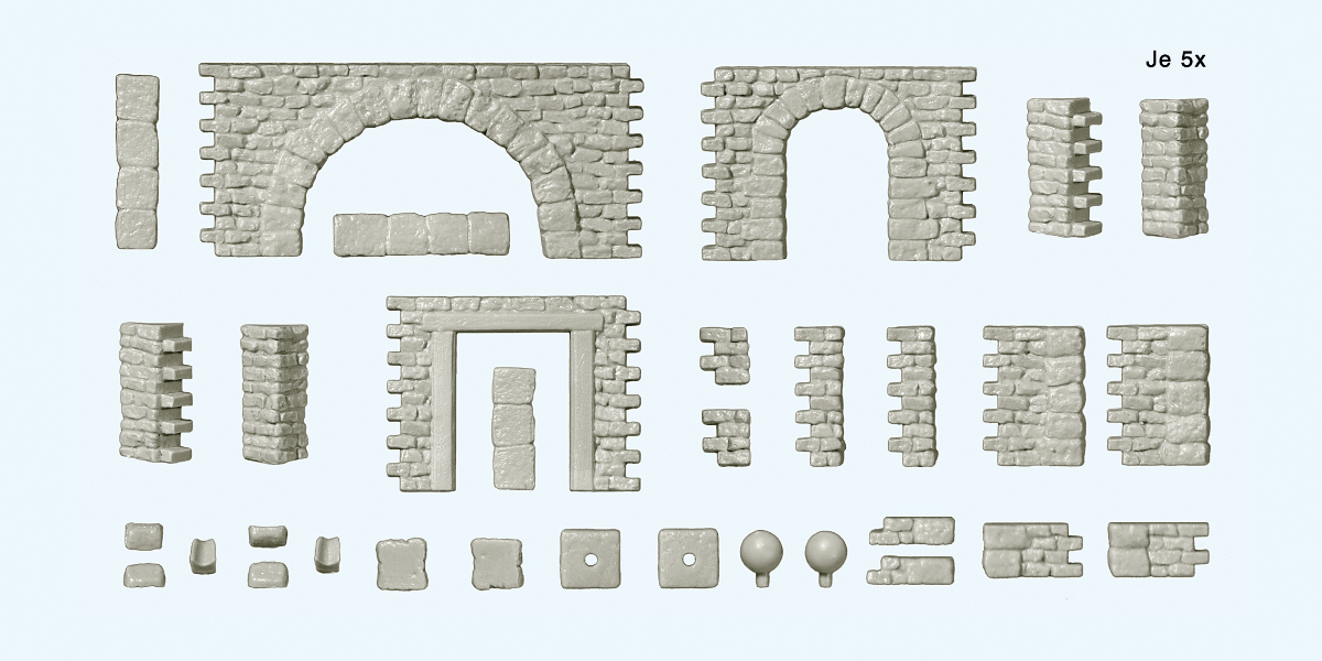 Bruchsteinmauern mit Zubehör