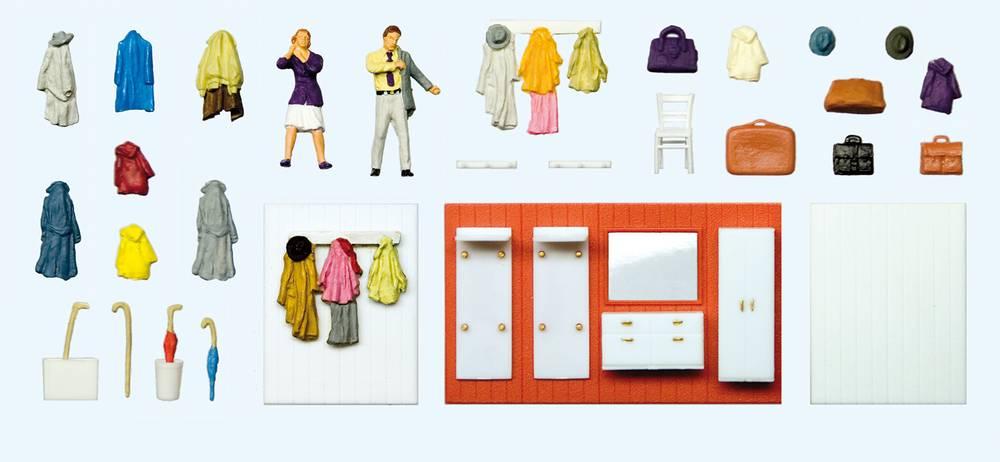 Beim Anziehen, Garderobeneinrichtung