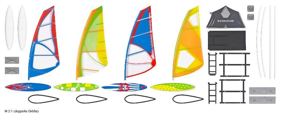 Windsurfer-Set mit Dachzelt