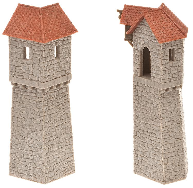 2 Altstadt Wehrtürme (1 Turm 45°; 1 Turm 90°) 4,0x4,0x12,7