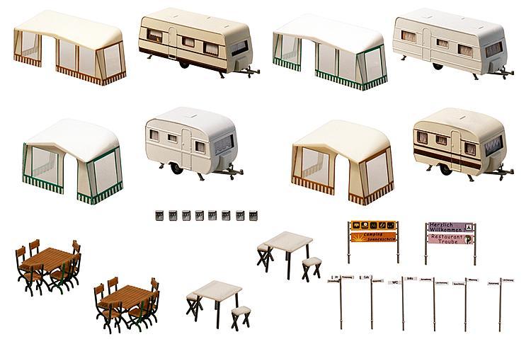 Camping Wohnwagen Set
