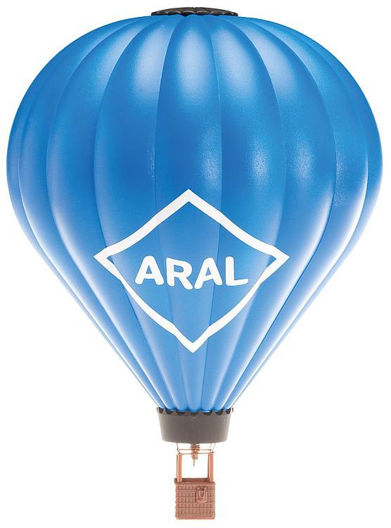 Heißluftballon mit Gasflamme