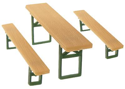 20 Tische und 40 Bänke