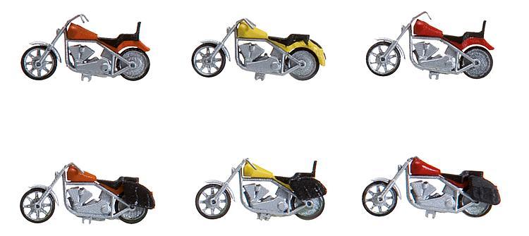 6 Motorräder