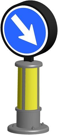 Verkehrszeichen mit LED-Beleuchtung