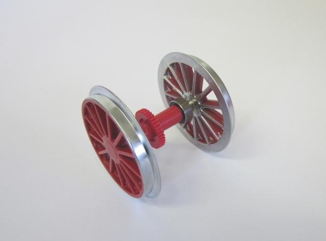 Radsatz verchromt, rot