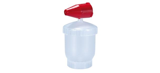 Farbbehälter mit Düse
