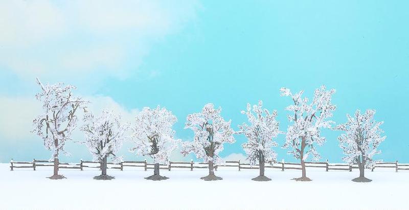 Winter-Bäume (7 Stück)