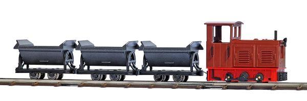 Feldbahn-Startset mit 3 Loren