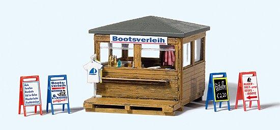 Kiosk mit Bootsverleih