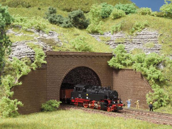 Tunnelportale zweigleisig (2 Stück)