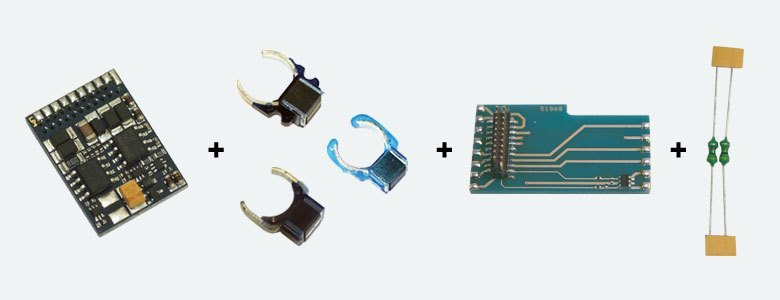 LokPilot Set 21MTC, incl. Decoder 64614, Feldmagnet 51962, Entst